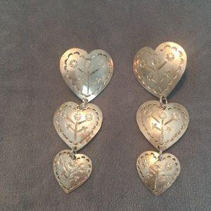 Beautiful 925 Sterling Silver Heart Earrings